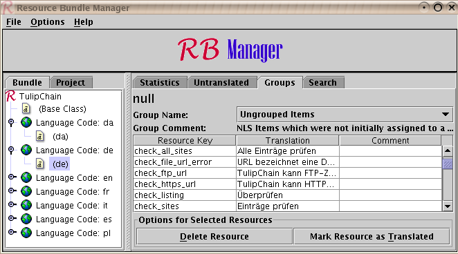 Resource Bundle Manager screenshot